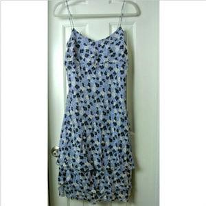 Ann Taylor Sundress Size 10 Floral 100% Silk